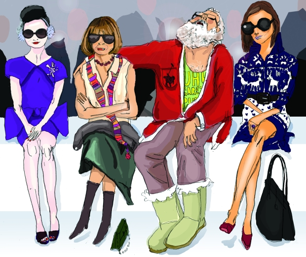 santa front row fashion show