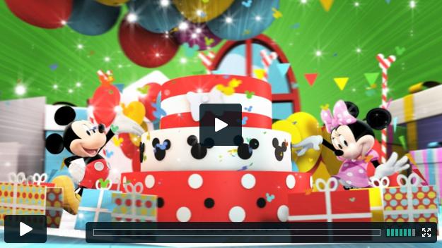 Its Mickey and Minnies birthday on Disney Junior jelly london