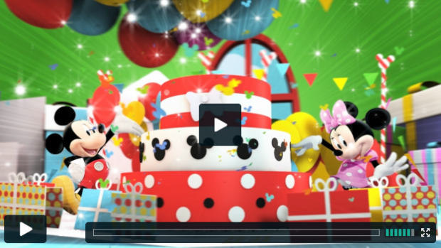 it's Mickey and Minnie's birthday on Disney junior